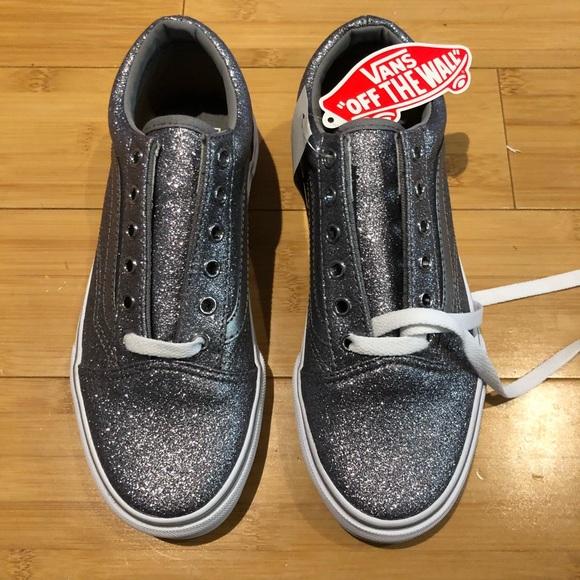 49c4c3dfaa Vans silver glitter old skool size 5.5 NEW